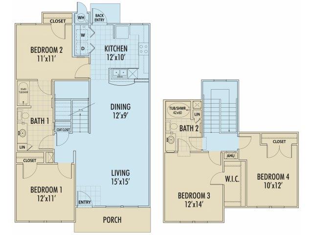 1,479 sq. ft. ACACIA/30% floor plan