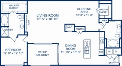 1,448 sq. ft. SEATTLE floor plan