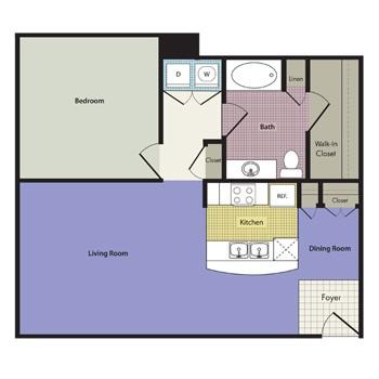 886 sq. ft. Rimini floor plan