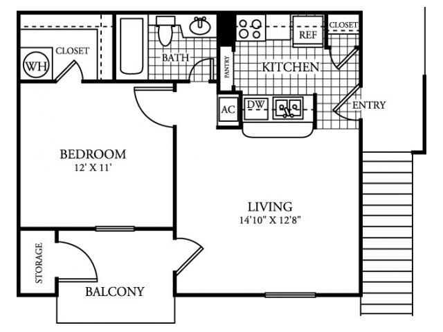 551 sq. ft. A1.1 floor plan