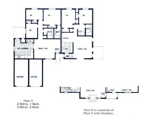 1,142 sq. ft. to 1,279 sq. ft. DUPLEX floor plan