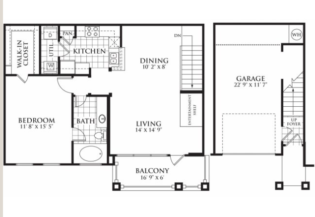 896 sq. ft. Harris floor plan