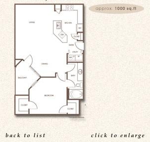 1,000 sq. ft. A-3 floor plan