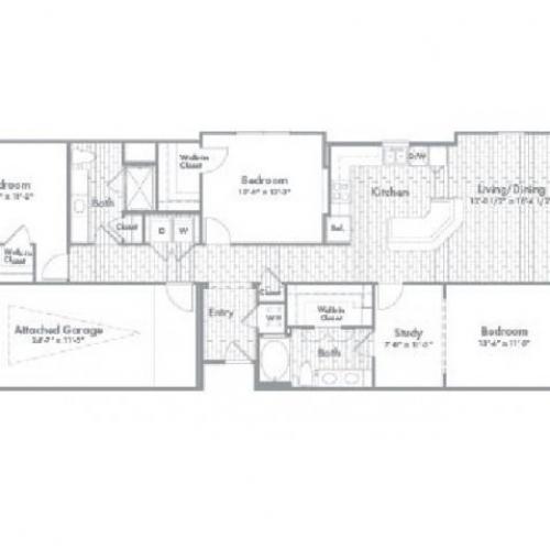 1,592 sq. ft. C1A floor plan
