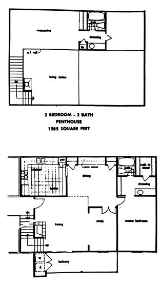 1,585 sq. ft. PENTHSE floor plan