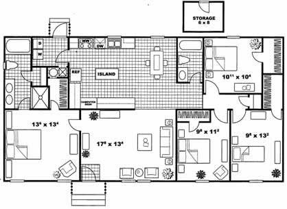 1,421 sq. ft. CAMBRIDGE C1 floor plan