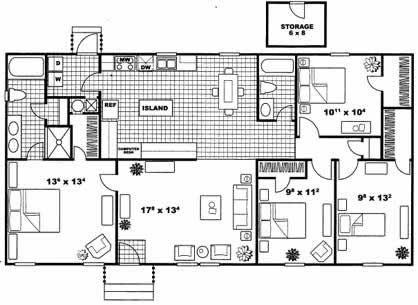 1,421 sq. ft. Cambridge floor plan