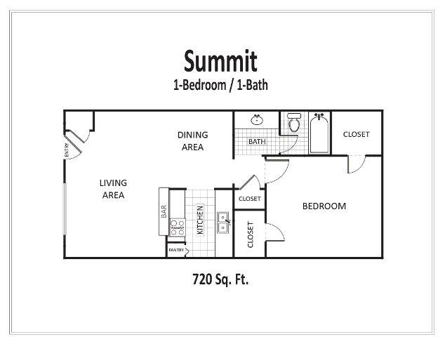 720 sq. ft. floor plan