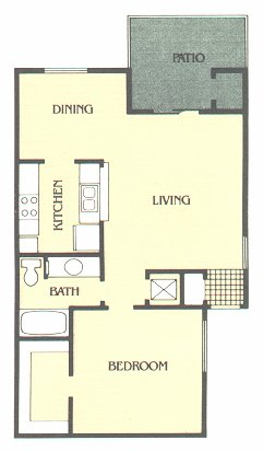 720 sq. ft. A floor plan
