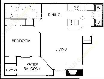 683 sq. ft. BM floor plan