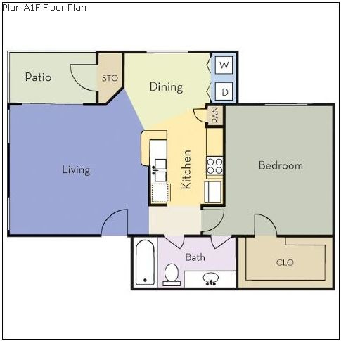 750 sq. ft. Fir floor plan