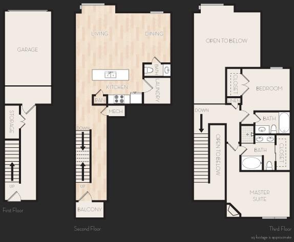 1,416 sq. ft. E1T floor plan