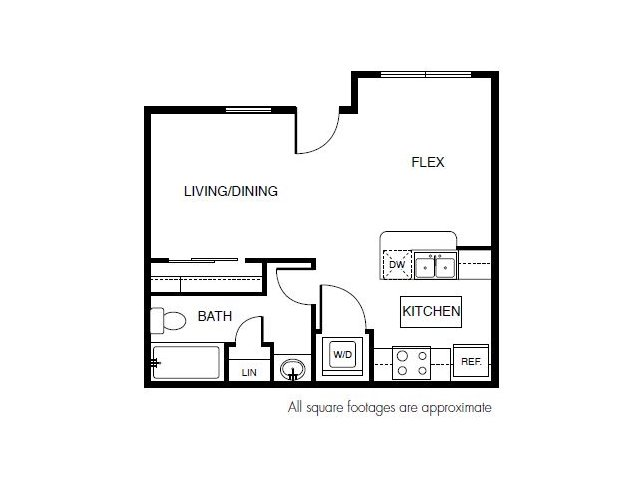 444 sq. ft. floor plan