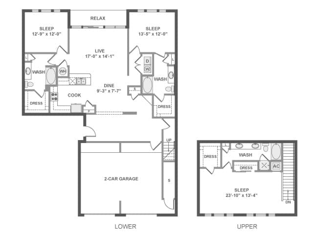 2,096 sq. ft. D11TG floor plan