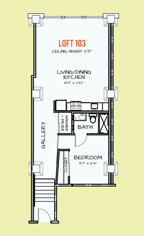 841 sq. ft. 308 floor plan