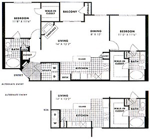1,066 sq. ft. to 1,091 sq. ft. BECKLEY floor plan
