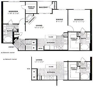 1,066 sq. ft. to 1,091 sq. ft. Beckley floor plan