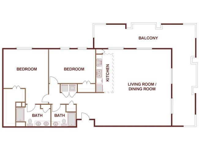 1,659 sq. ft. to 1,673 sq. ft. Rio Grand floor plan