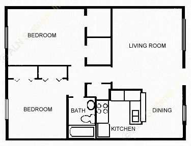 820 sq. ft. CLASSIC floor plan