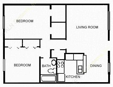 820 sq. ft. GALLANT floor plan