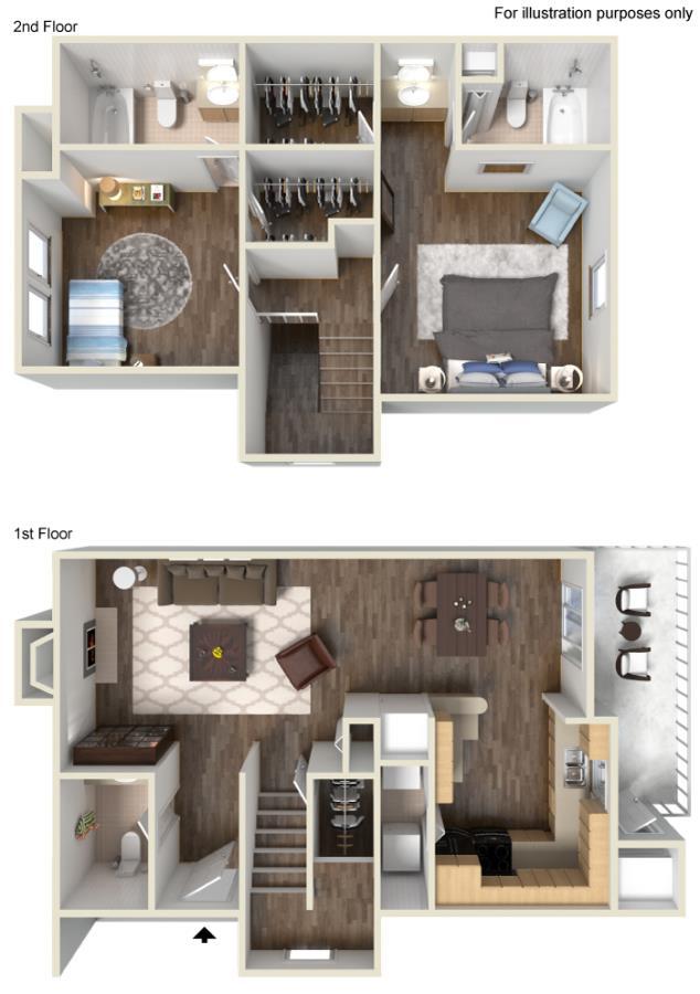 1,152 sq. ft. G floor plan