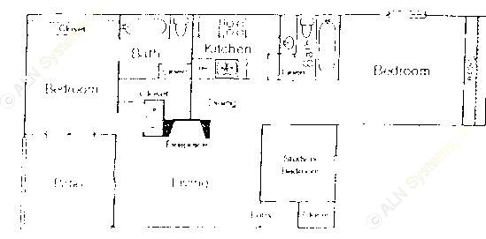1,236 sq. ft. C1 floor plan