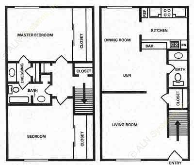 1,225 sq. ft. floor plan