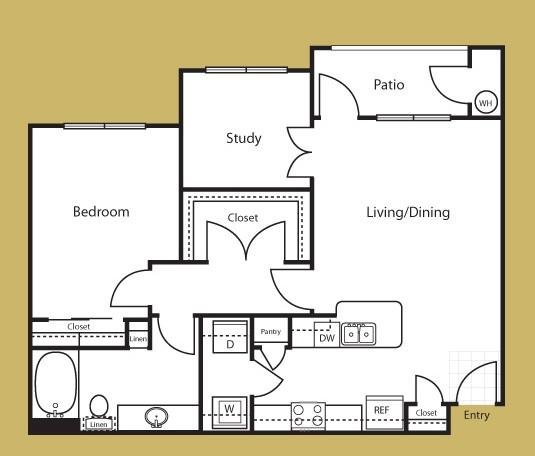 892 sq. ft. Torino floor plan