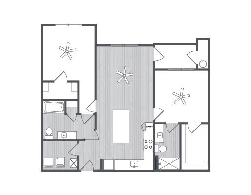 1,104 sq. ft. San Marino floor plan