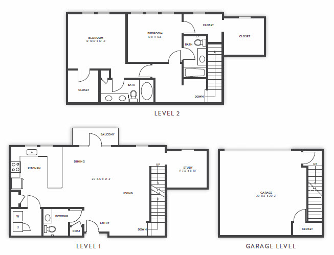 1,859 sq. ft. TH2 floor plan