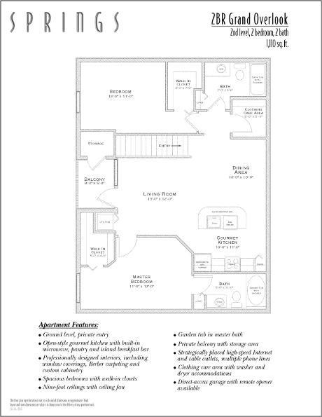 1,110 sq. ft. GRAND OVER floor plan