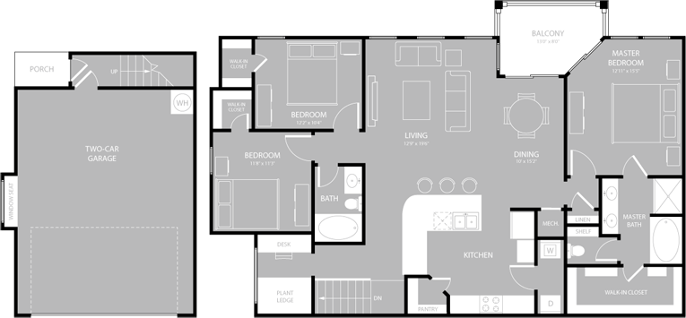 1,578 sq. ft. C2 floor plan
