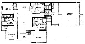 1,524 sq. ft. Q floor plan