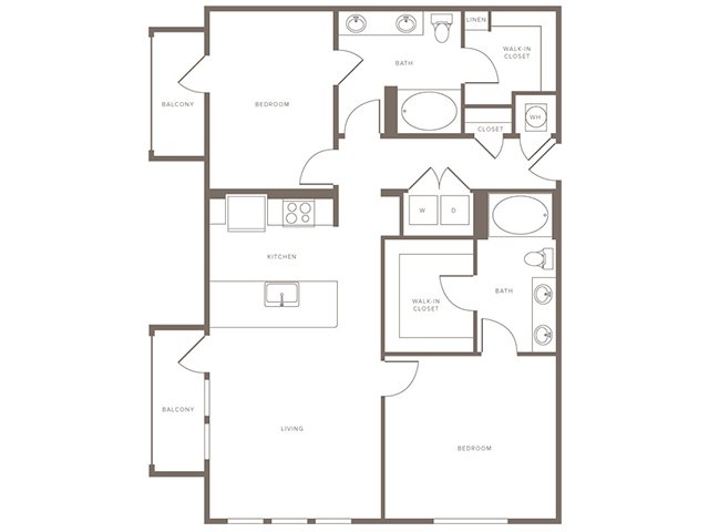 1,179 sq. ft. B1 floor plan