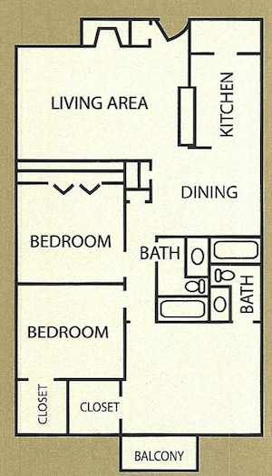 1,155 sq. ft. Whittington floor plan