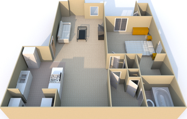 763 sq. ft. floor plan