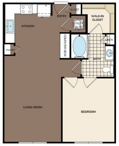714 sq. ft. A1-sc floor plan