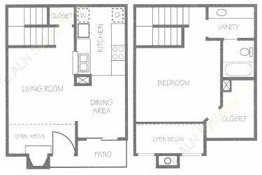818 sq. ft. C floor plan