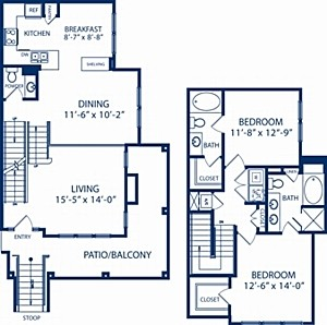 1,423 sq. ft. Spruce floor plan