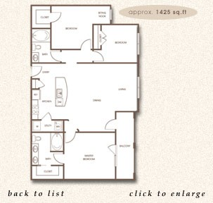 1,425 sq. ft. C-1 floor plan