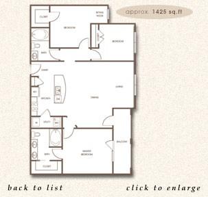 1,425 sq. ft. C-1 floor plan