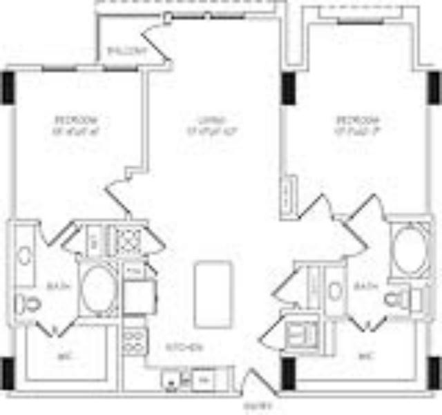 1,226 sq. ft. B1G floor plan