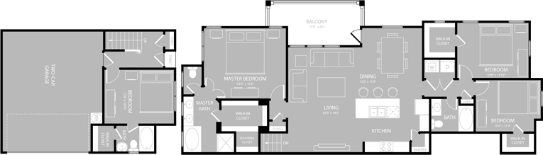 1,910 sq. ft. D1 floor plan