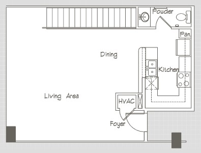 1,245 sq. ft. P13 floor plan