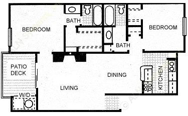 948 sq. ft. GUADALUPE floor plan