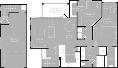 1,181 sq. ft. Michigan floor plan