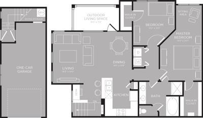 1,181 sq. ft. Michigan floor plan