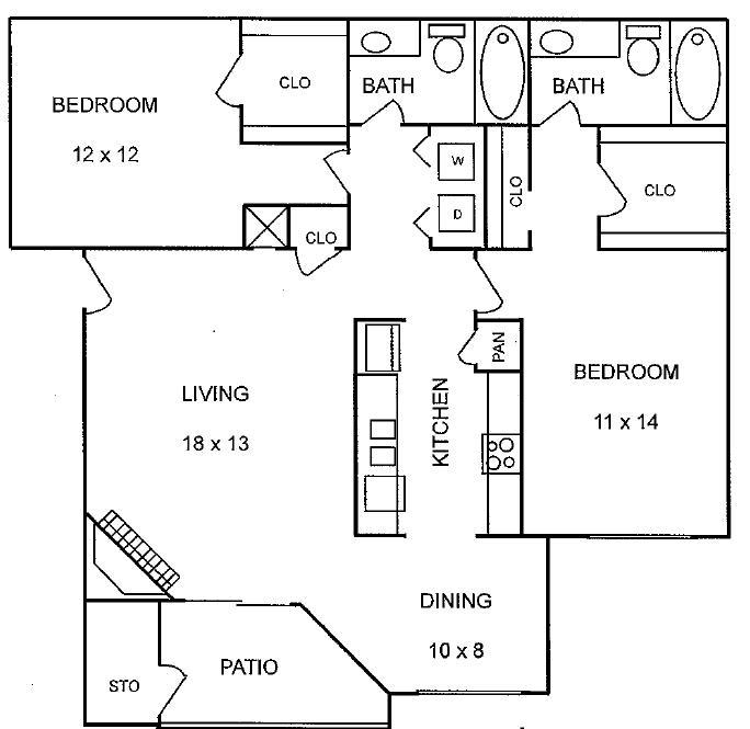 1,062 sq. ft. Magnolia floor plan