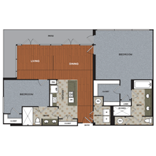 1,910 sq. ft. B5-PH floor plan