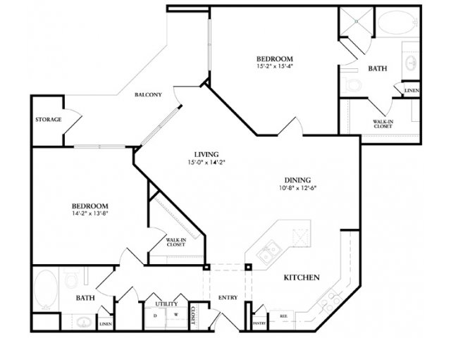 1,267 sq. ft. Stoneleigh floor plan